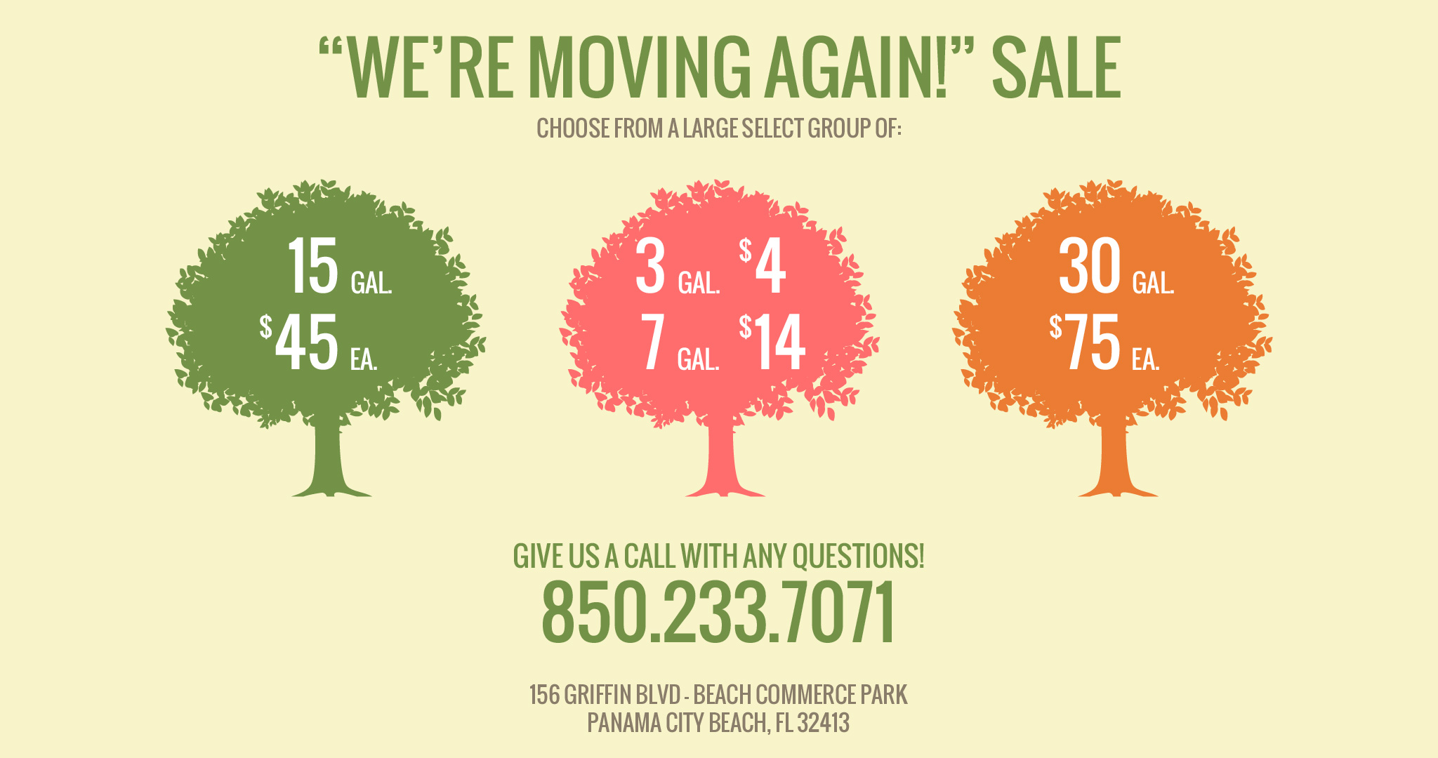 We're Moving Again Sale!